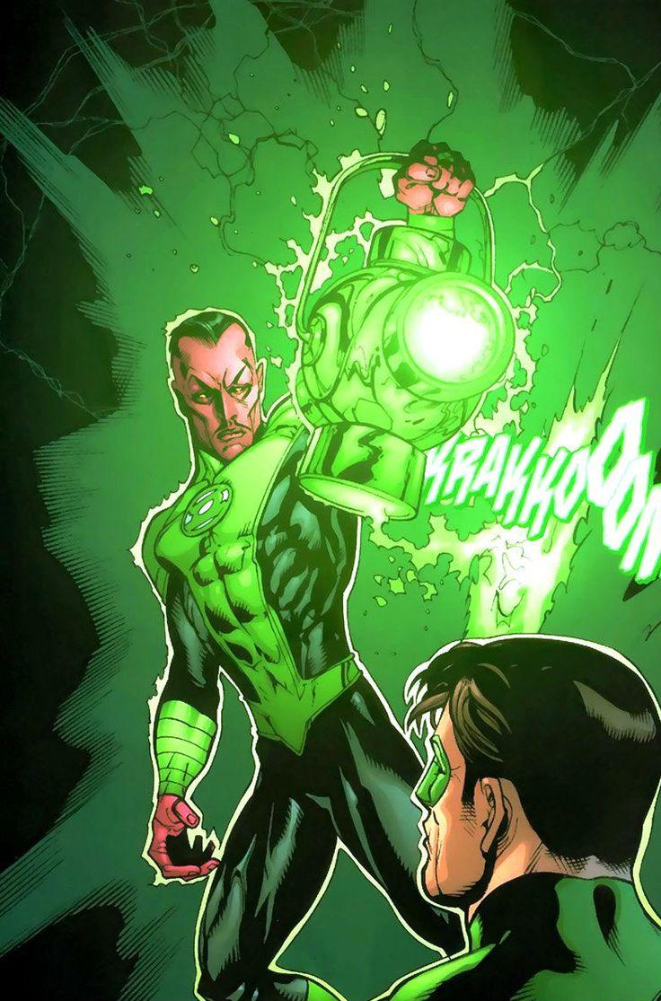 Green Lantern Sinestro and Hal Jordan by Doug Mahnke