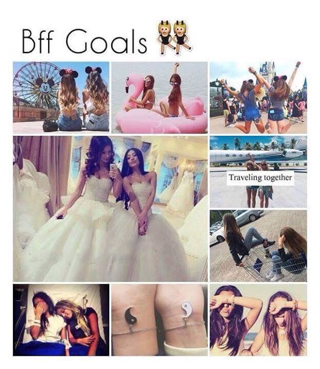BFF goals. Well, except for the wedding part. Haha