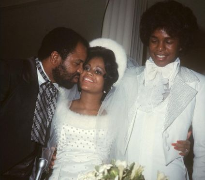 Berry Gordy giving away daughter, hazel Gordy during 1973 wedding to Jermaine Jackson