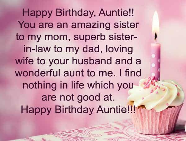 Happy Birthday Aunt Quotes Elegant Happy Birthday Auntie Wishes