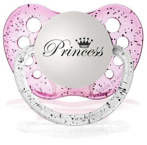 Fopspeen Princess Pacifier Pink - De Gele Flamingo