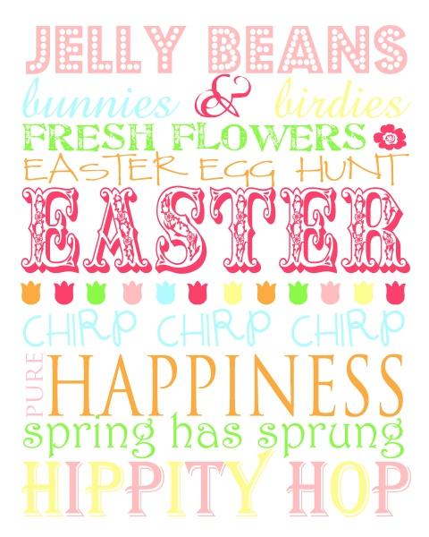 Easter Subway Art - Free!