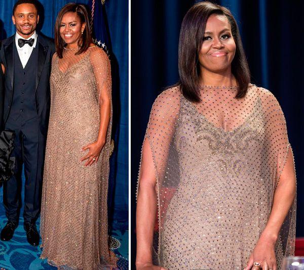 Vestido de festa como inspiração para mãe de noiva | Michelle Obama veste Givenchy