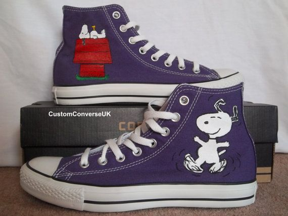 What! Pretty much sure I need these...Snoopy AND purple? PERFECT. Only 105 US dollars. Err...haha! Wow. That's an expensive pair of Converse!