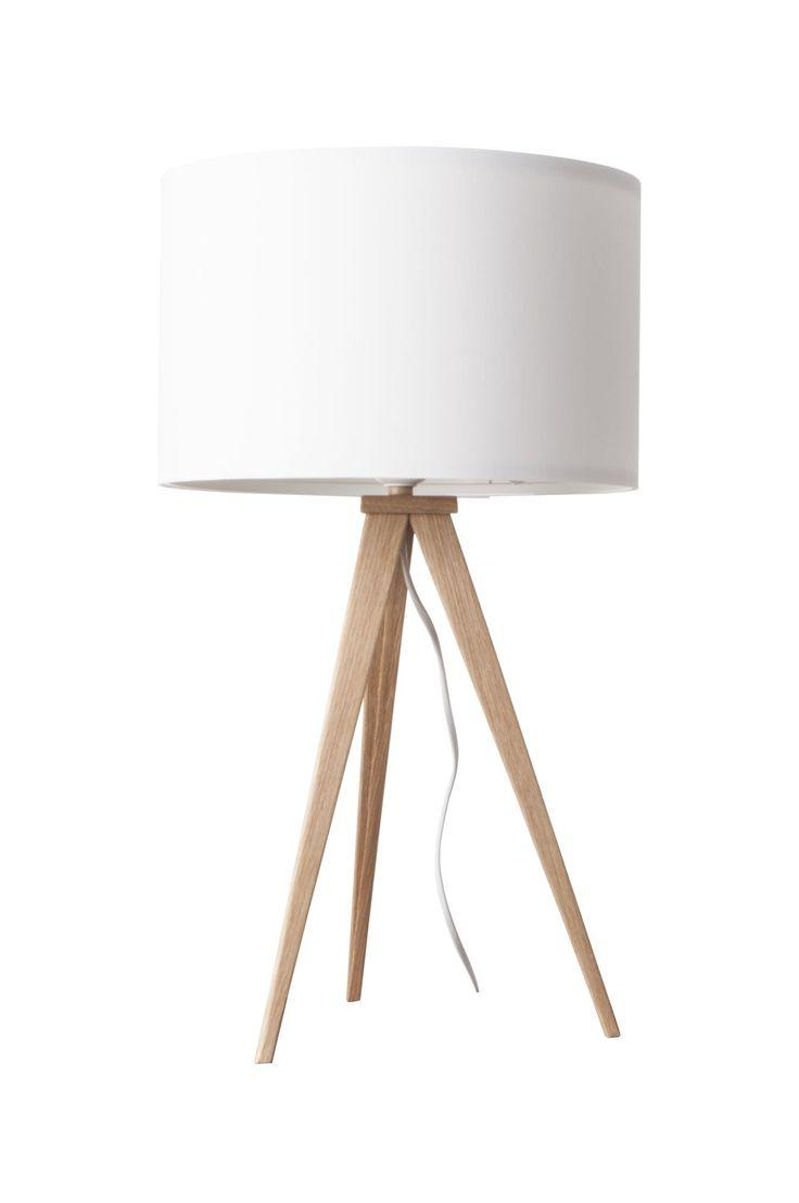 Tripod tafellamp hout - Zuiver - wit