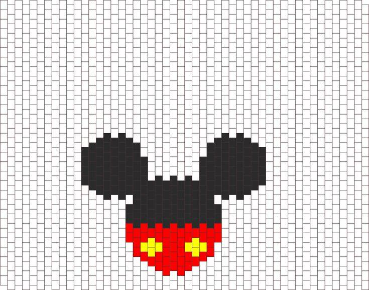 Mickey Bead Pattern | Peyote Bead Patterns | Characters Bead Patterns