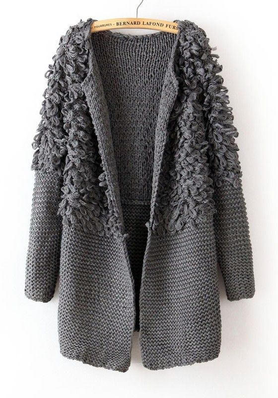 Love...Love...Love this  Cozy Grey Cardigan #warm #winter #fashion