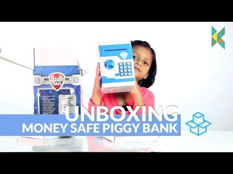 Money Safe Piggy Bank ATM Type Cum Box Electronic Secret Code Lock Kids Gift India - YouTube