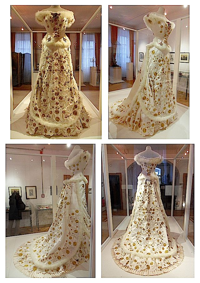 A replica of Empress Sisi's 1879 diamond wedding anniversary dress From empresstitania.tumblr.com-tagged-empress+elisabeth-page-2