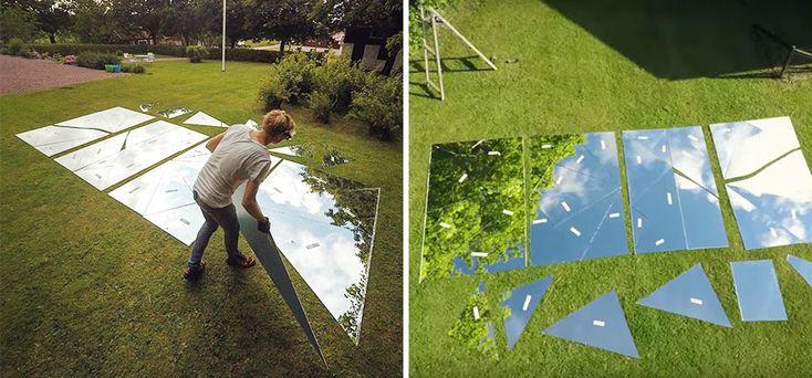 Un lac en miroirs brisés par Erik Johansson  2Tout2Rien