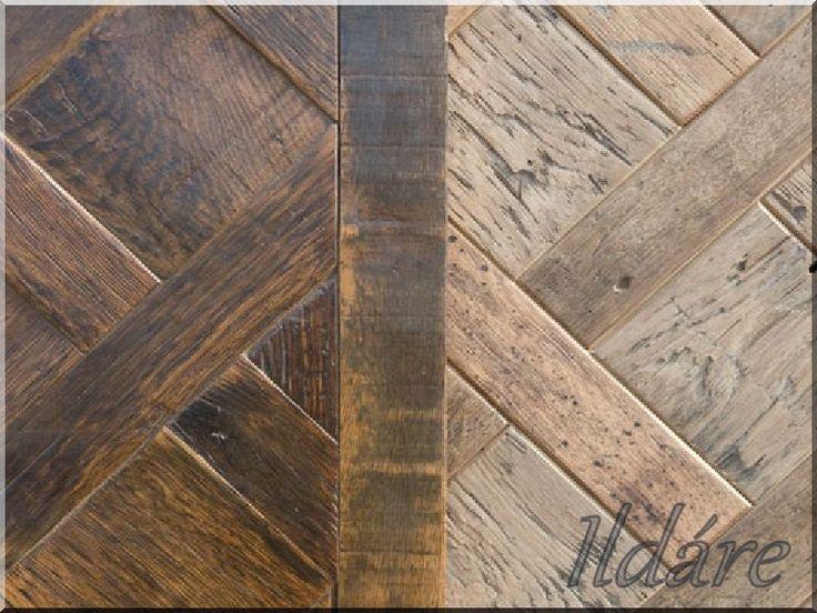 ipari loft falburkolat, egyedi fa dekoráció, antik fa