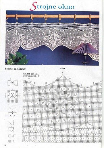 World crochet: Curtain 21
