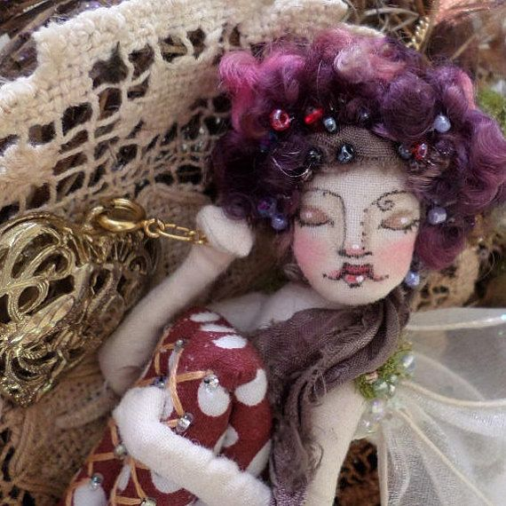 OOAK Fairy Art Doll  Lady Cymbelline Juliette Figg  Flower Fairy