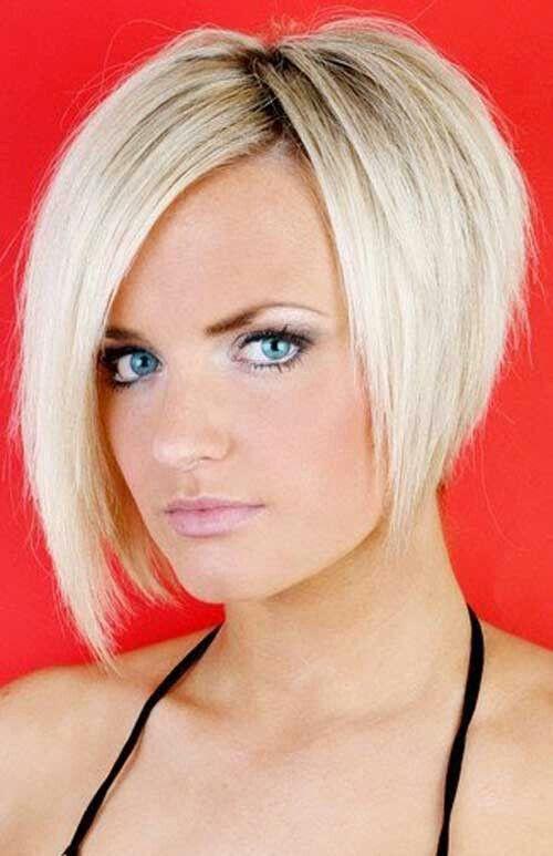 Boblijn blond short haircut