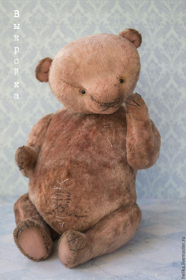 Купить Выкройка медведя Яся + комбинезон - выкройка, выкройка pdf, выкройка мишки Тедди