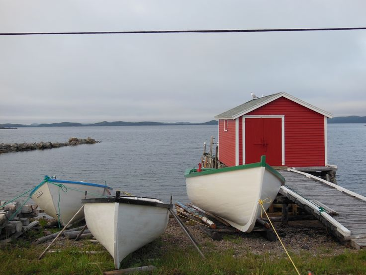 Early morning on the road along Little Harbor in Newfoundland
