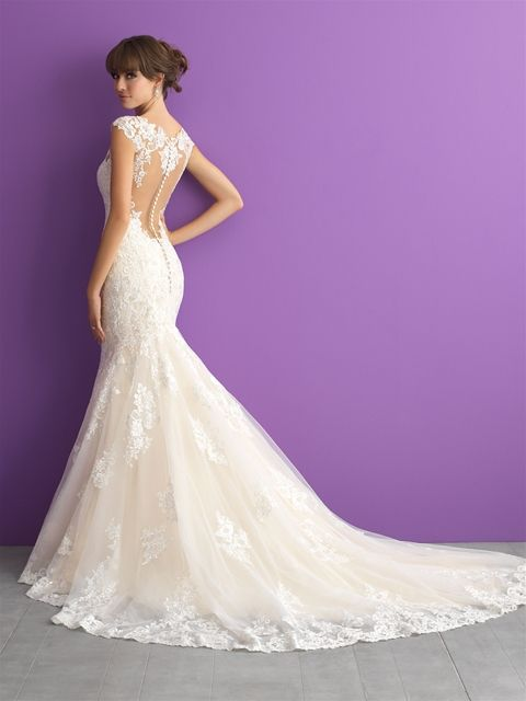 Designer: Allure Romance. Style: 3003. Available at Bliss Bridal in Wisconsin. www.blissbridalonline.com