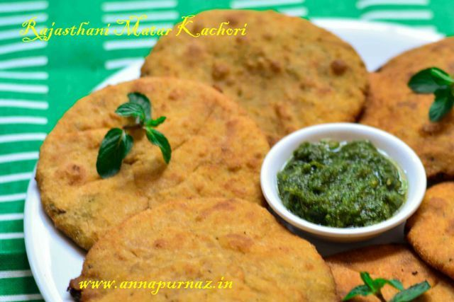 Welcome a fresh chill in the weather with these #hot and #crisp #matarkachoris . Enjot it with #corianderchutney or #tamarindchutney. #rajasthan #breakfast #deepfried #greenpeas Recipe at: www.annapurnaz.in