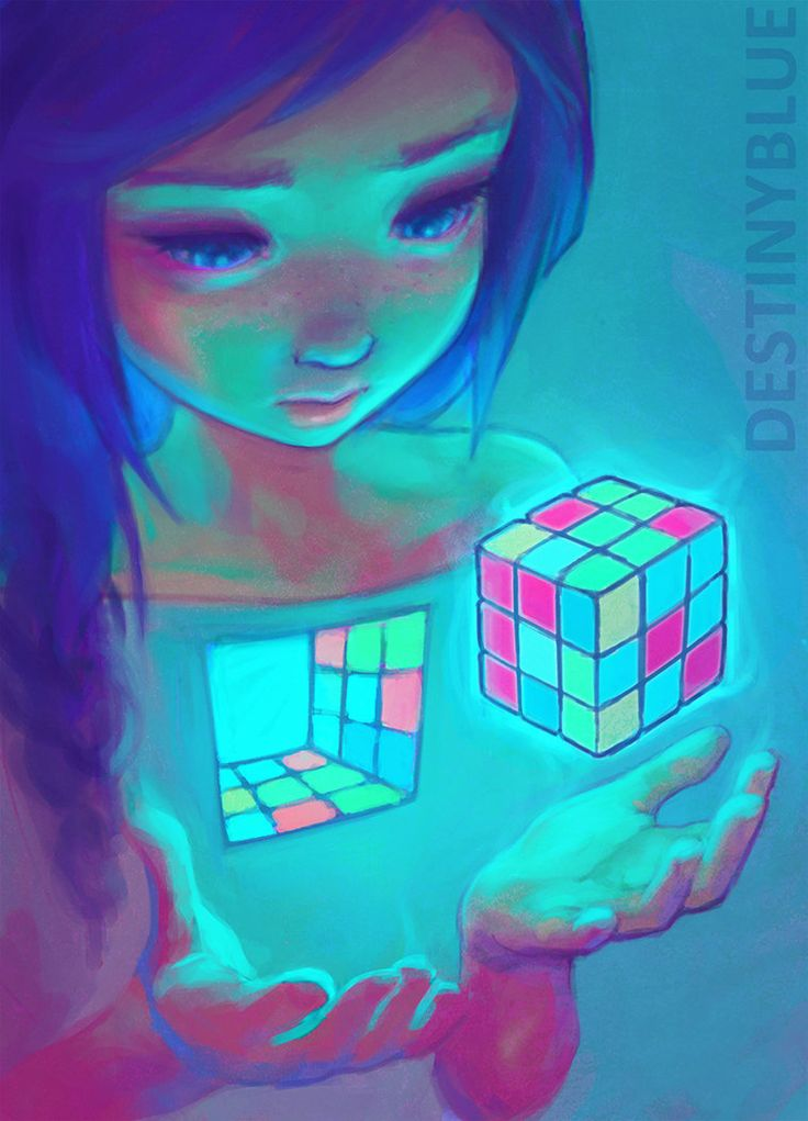 "I'm Complicated by DestinyBlue on DeviantArt ""Working out how to understand and love yourself can be the most tricky of things. Like trying to solve a rubik's cube when you're colour blind."""