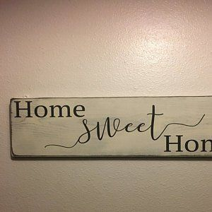 Home Decor Sign | Home Sweet Home Sign | Above Couch Sign | Above Couch Decor | Home Sweet Home Wood Sign | Family Room Wall Decor