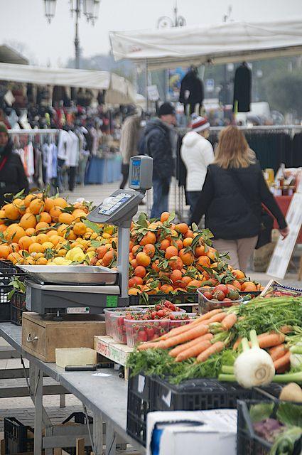 Market day at Lake Garda