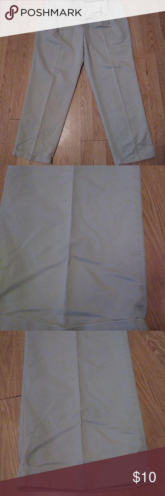 Savane Motion Mens Tan Pleated Cuffed Pants 38X32 Waist 19in Length 42in Inseam 3in Cuff Rise12in  1-0091.1 Savane Pants Dress