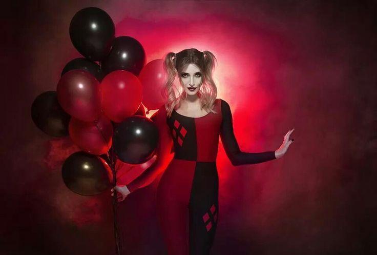 Harley Quinn long sleeved catsuit