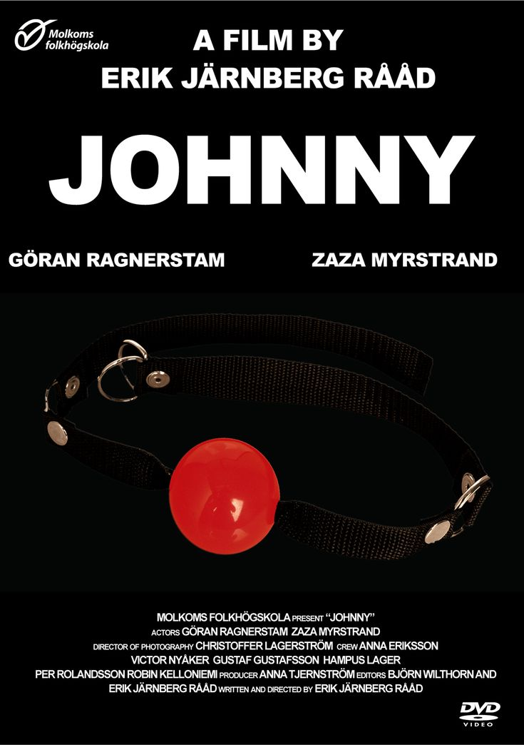 "DVD cover for Short film ""Johnny"" With Göran Ragnerstam mad by Erik Järnberg Rååd"