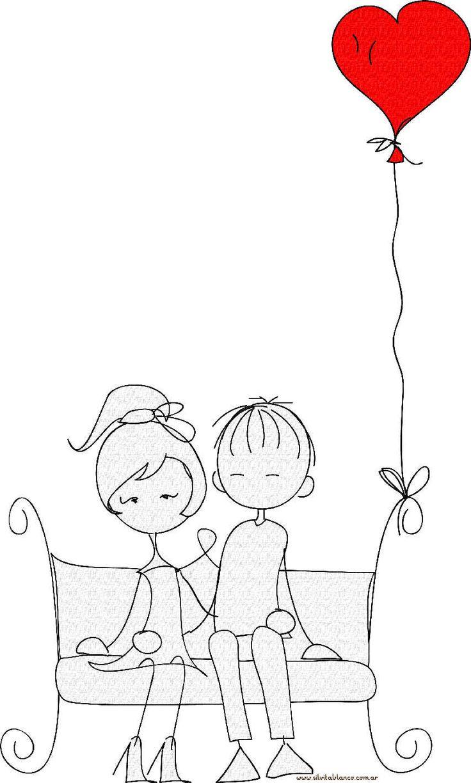 особенно мультяшные картинки о любви черно-белые редкость для