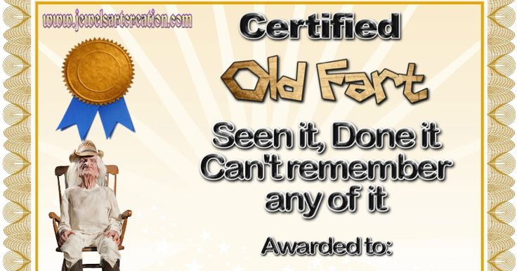 Old Fart Award Male | Jewels Art Creation