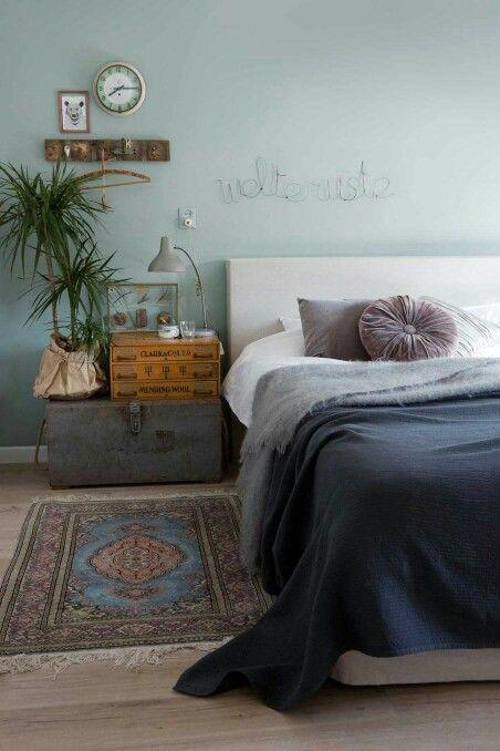 Lichter groen slaapkamer