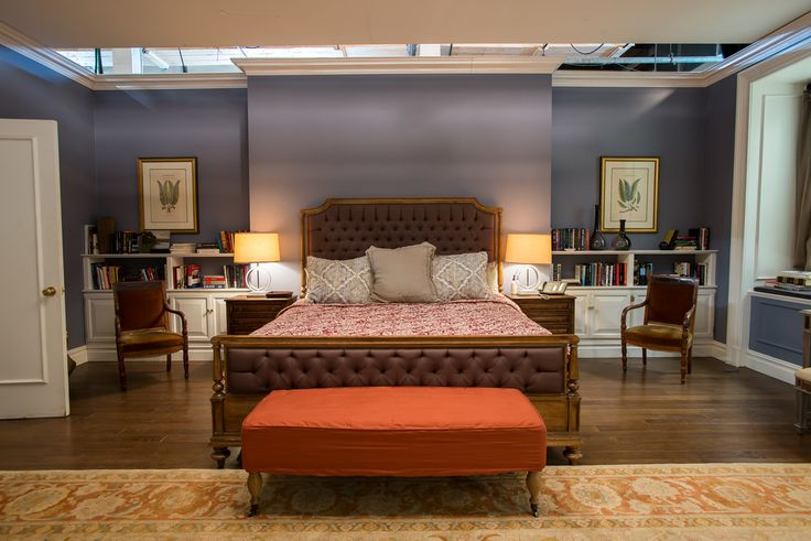 Madam Secretary bedroom - beautiful combination of traditional and dramatic pieces.