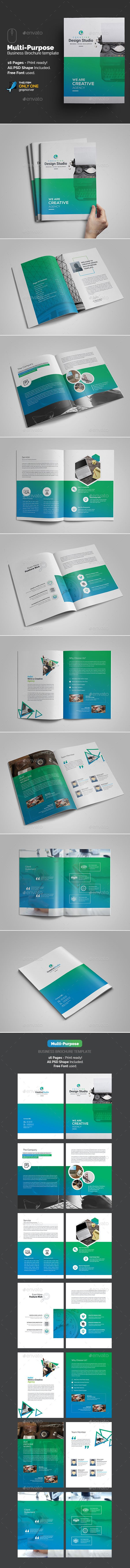 Multi-Purpose Agency Brochure #Template - #Brochures Print Templates Download here: https://graphicriver.net/item/multipurpose-agency-brochure-template/18725980?ref=alena994