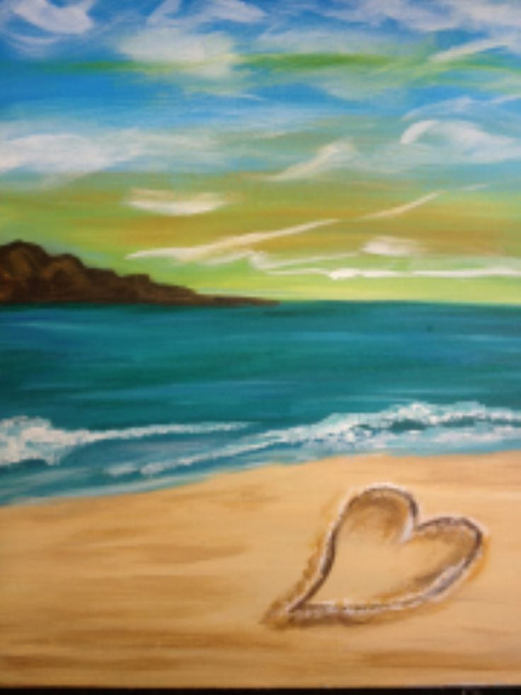 I am going to paint Heart in the Sand at Pinot's Palette - Naperville to discover my inner artist!