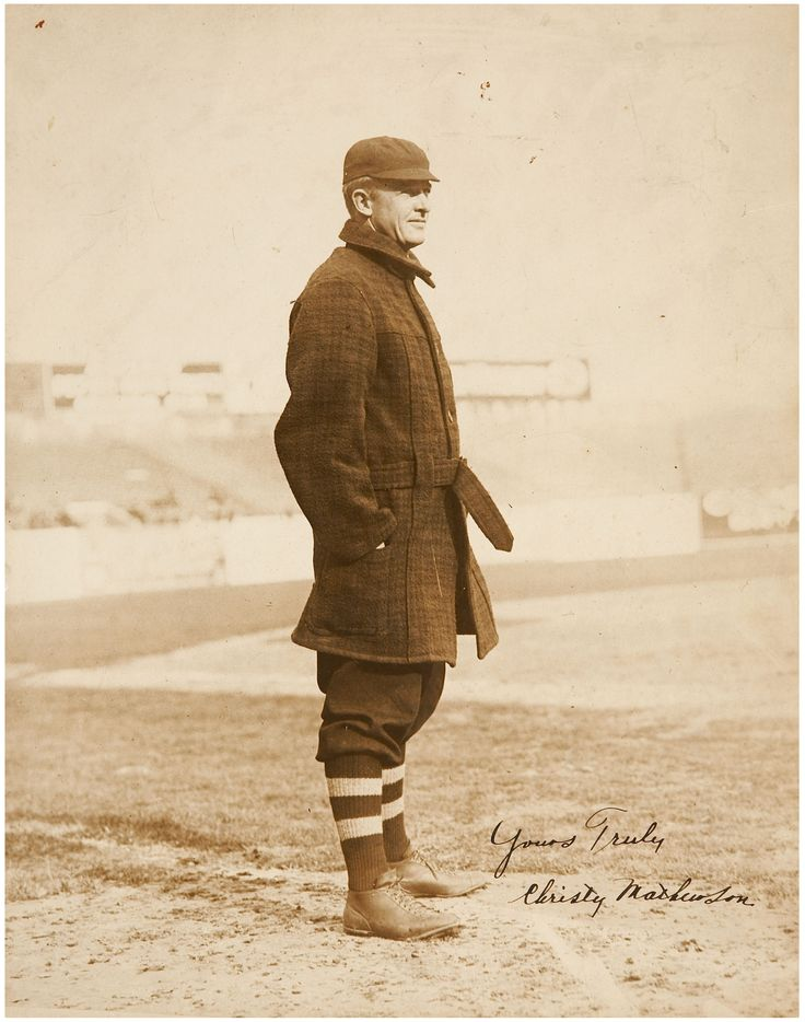 Christy Mathewson autographed picture, 1912 Baseball