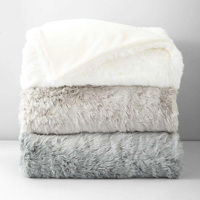 Hudson Park Faux Fur Throw Blankets