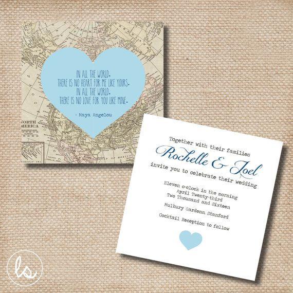 Travel Wedding Invitation Purple Invitations Wedding Invitation Destination Travel