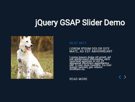 This is a #JQuery/CSS based #carousel component that uses GSAP's Tweenmax.js for the smooth tween animations when navigating between slides.