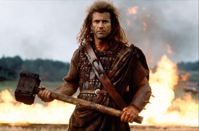 Braveheart, de et avec Mel Gibson (1995).