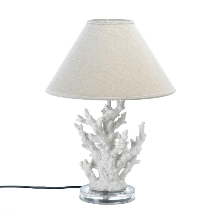 10015678 White Coral Table Lamp 10015678 WHITE