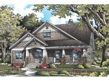 Efficient, Open, and Lovely (HWBDO75905) | Bungalow House Plan from BuilderHousePlans.com