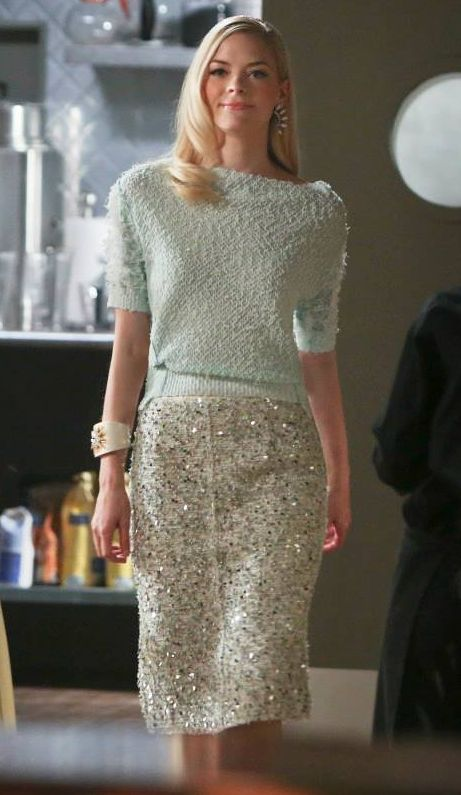 Tweed Paillette Skirt