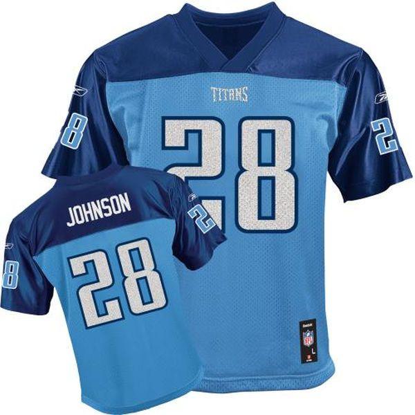 Girls' Reebok Chris Johnson Light Blue Tennessee Titans Alternate Replica Jersey - $17.99