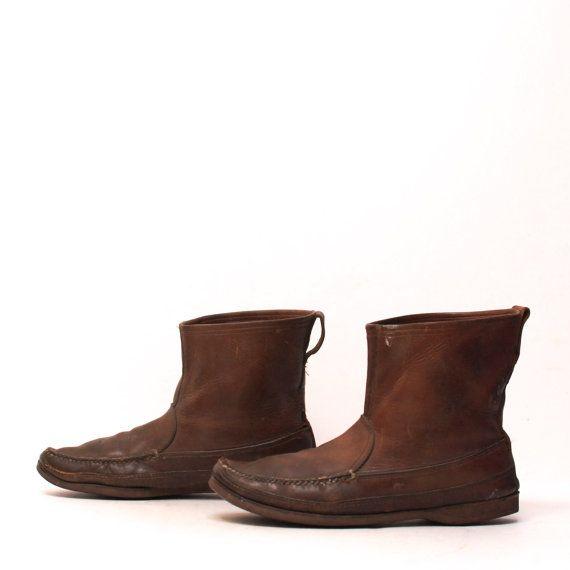 Vintage leather boots, Eskimo.