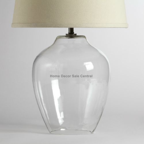 Pottery Barn Atrium Lamp: NEW Display Fillable Atrium Ginger Jar Fat Round Clear