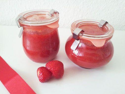 kleinundzuckersüß: Erdbeer-Aperol-Marmelade und Sandkuchen mit Erdbeer-Marmelade