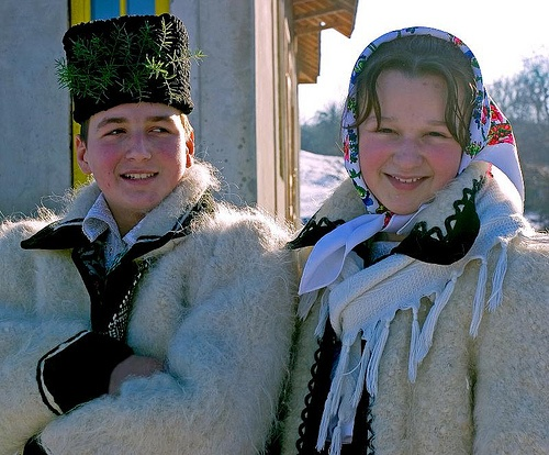 Traditional costumes    Romanian traditional costumes in Maramures, Northern Romania