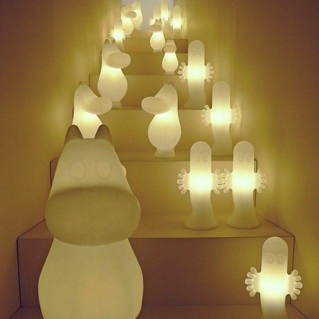 wgsnhomebuildlife:  We just spotted Moomin Lights at Stockholm Furniture & Light Fair 2014 Image taken by homebuildlife