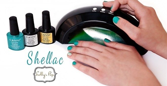9 Watt LED Nail Lamp by Lolly's Pop- used with CANNI Shellac Gel Nails