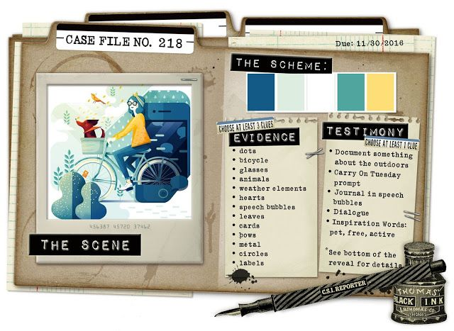 CSI: Color, Stories, Inspiration: Case File No. 218 - Deadline: November 30